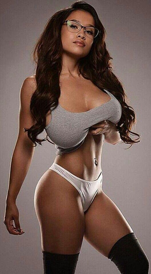 Busty fitness model