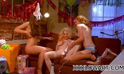 Pet sucking boobs sex