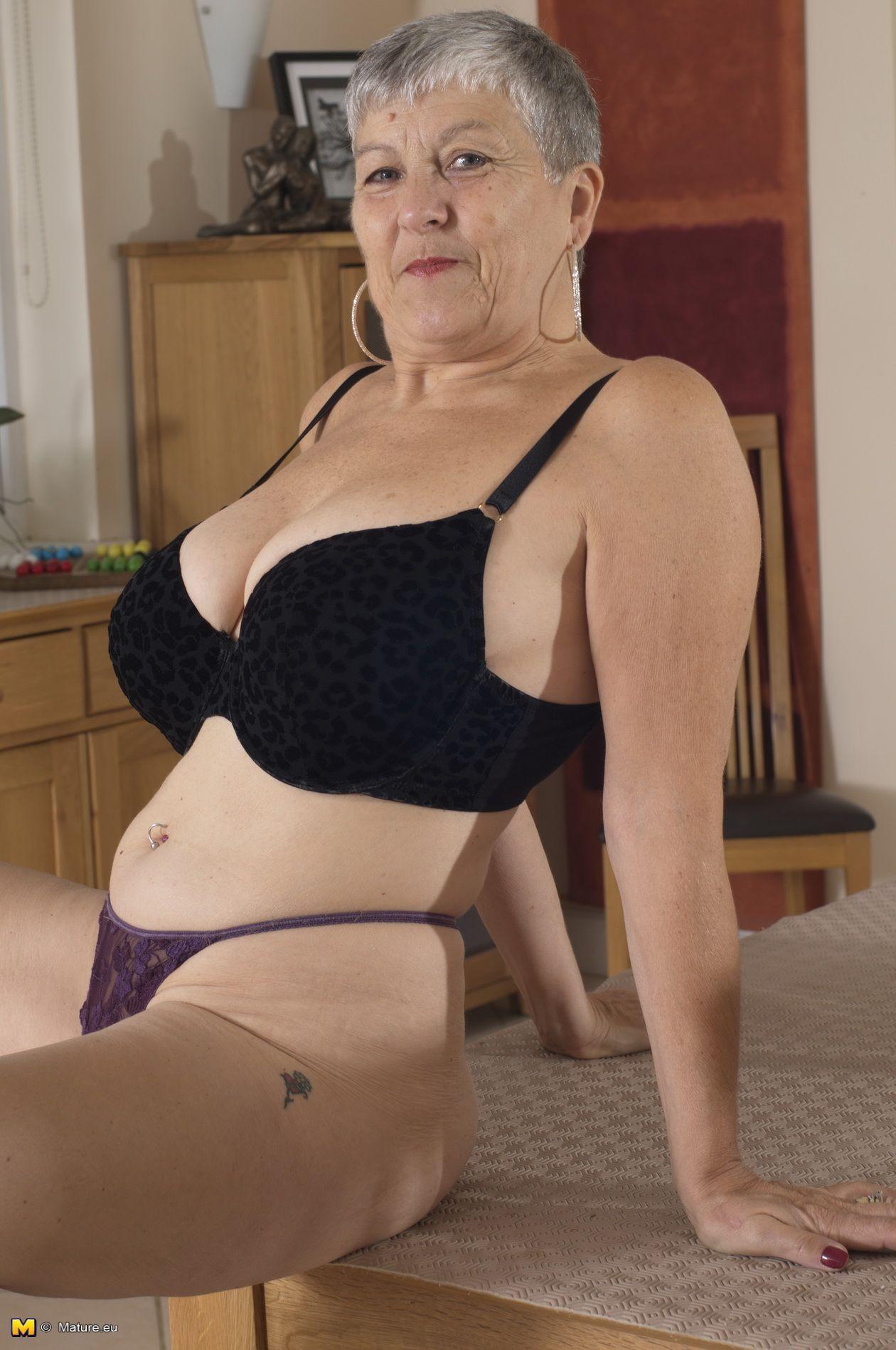 skinny granny topless