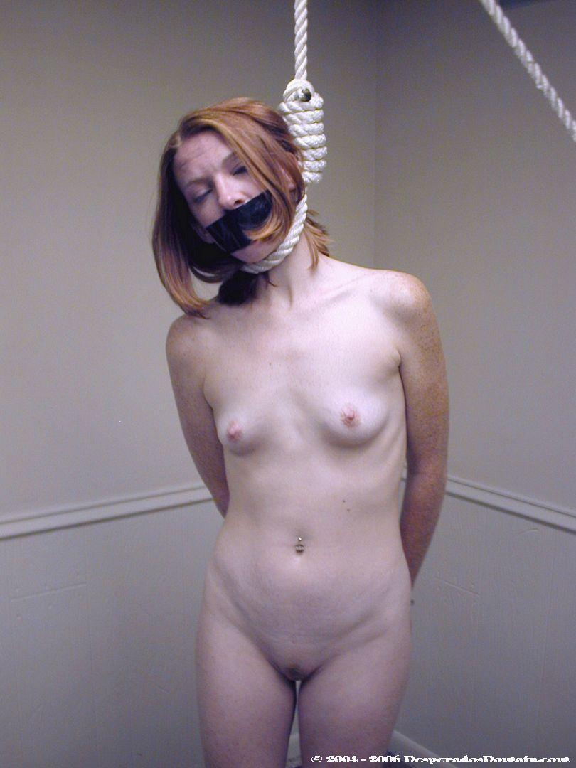Porn neck hanging Snuff hanging