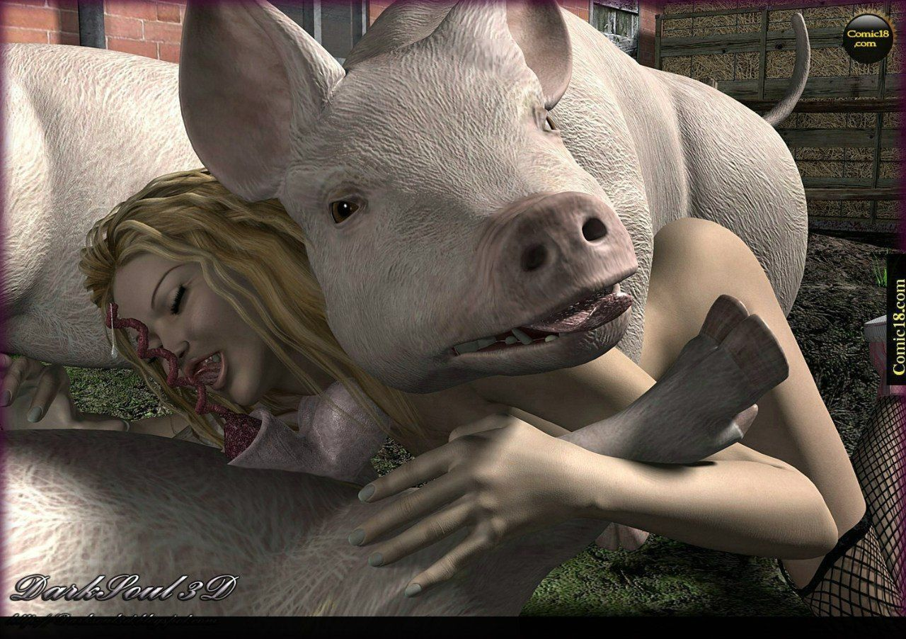 Fucks girl pig Big pig