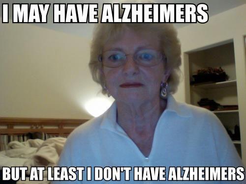 Doctor /. D. reccomend Alzheimers jokes