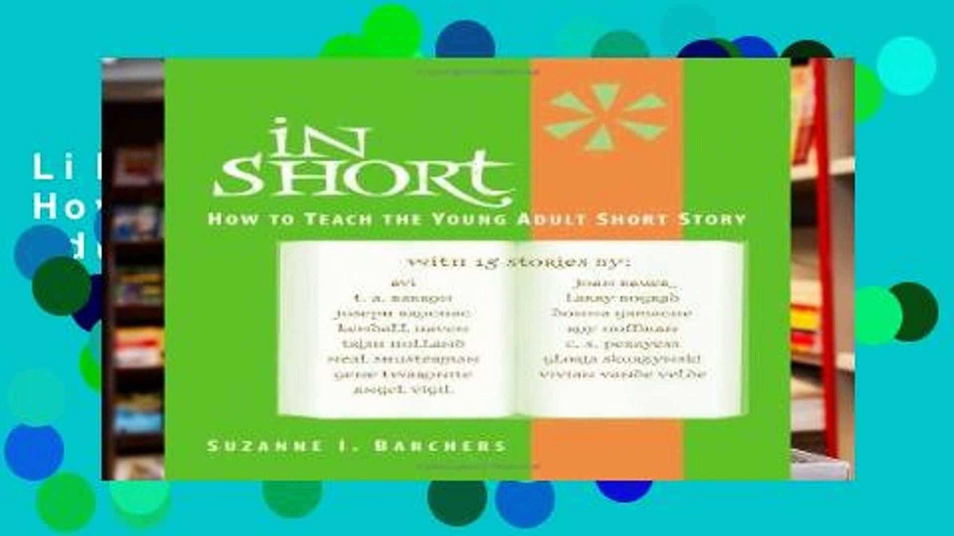 Cheese reccomend Young adult short stories