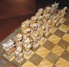best of Asian chess wooden style antique 32 chinese