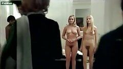 Nude women lined up