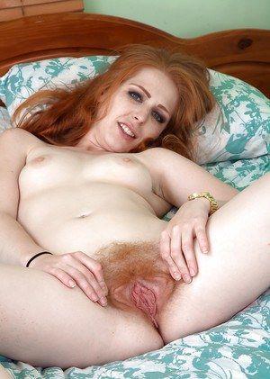 Hairy Pussy Big Butt Redhead Lesbian MILF Fucks BBC.
