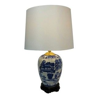 Asian style porcelain lamps