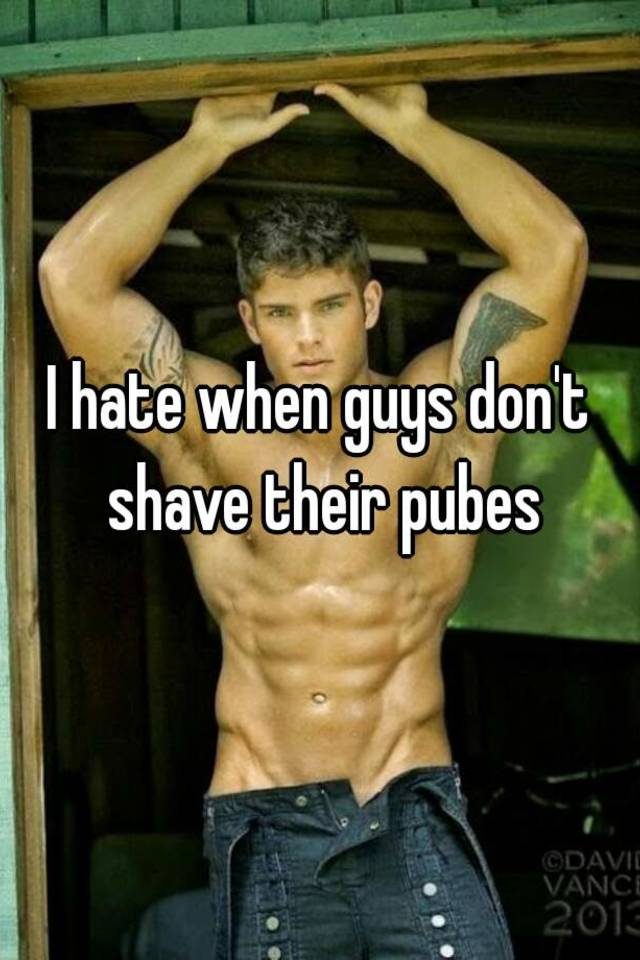 Phrase The dick their guys should shave yes
