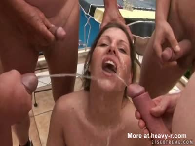 Horny German Cunt Group Piss Swallowing