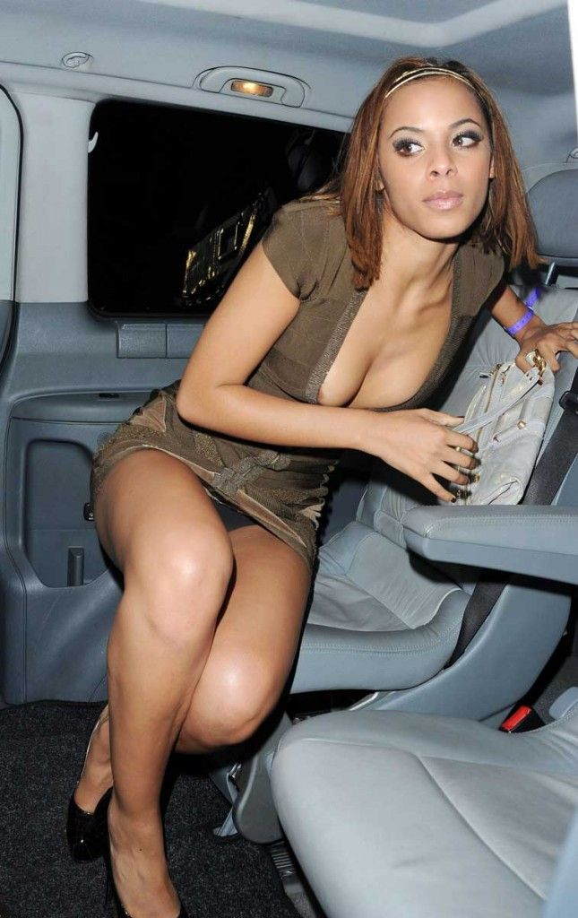 Quickly answered upskirt black celeb was