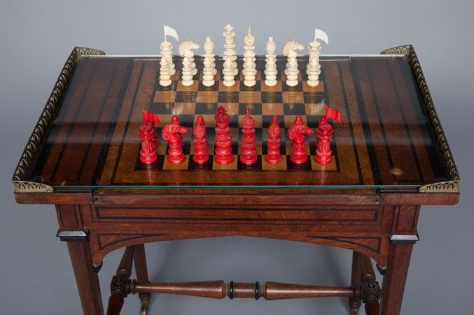 32 antique asian chess chinese style wooden