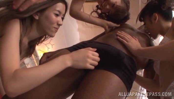 Japanese interracial blowjob