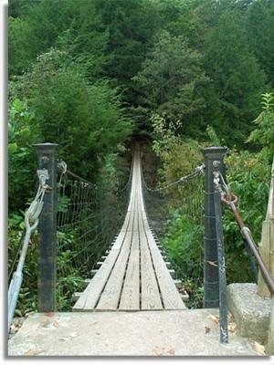 Hose reccomend Swinging bridge state park