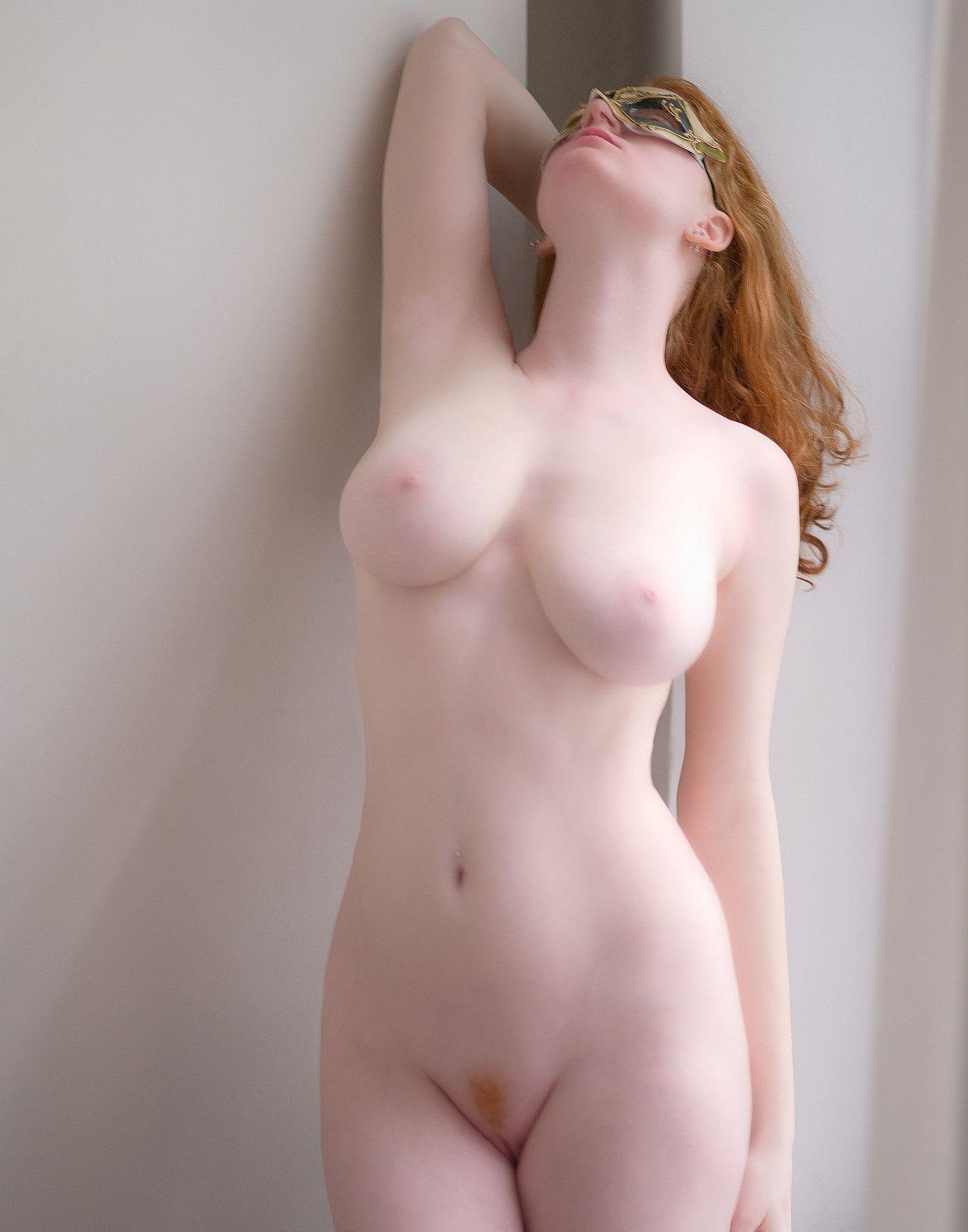 Pale girl naked